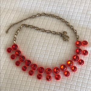 JCrew necklace orange crystals